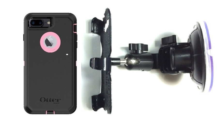 SlipGrip Car Holder For Apple iPhone 8 Plus Using OtterBox Defender Case DT