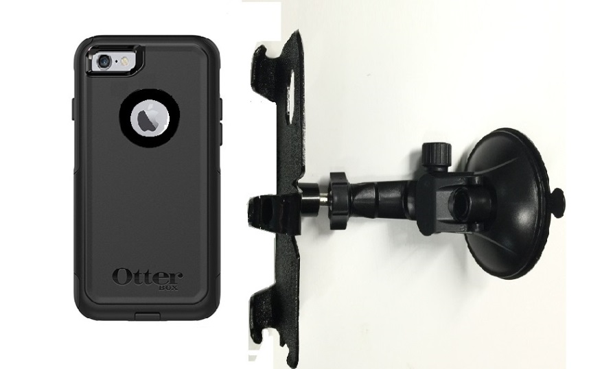 SlipGrip Car Holder For Apple iPhone 8 Using OtterBox Commuter Case LP