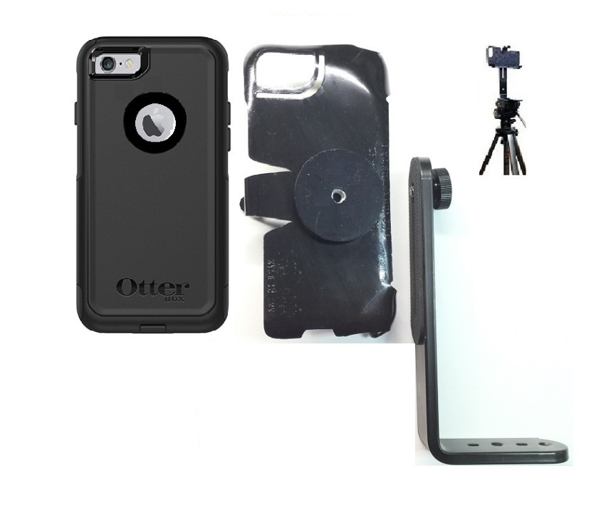 SlipGrip Tripod Mount For Apple iPhone 8 Using OtterBox Commuter Case