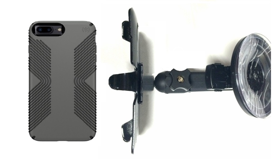 SlipGrip Car Holder For Apple iPhone 8 Plus Using Speck Presidio Grip Case HV