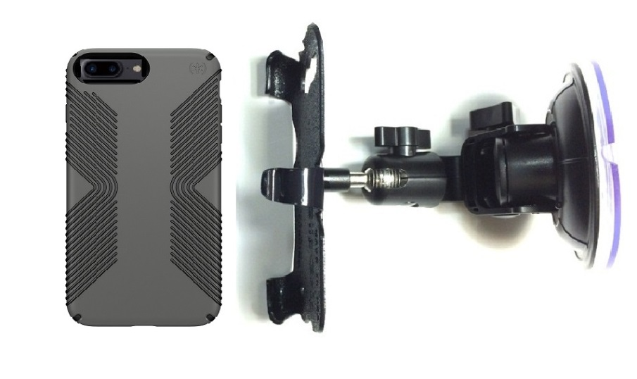 SlipGrip Car Holder For Apple iPhone 8 Plus Using Speck Presidio Grip Case DT