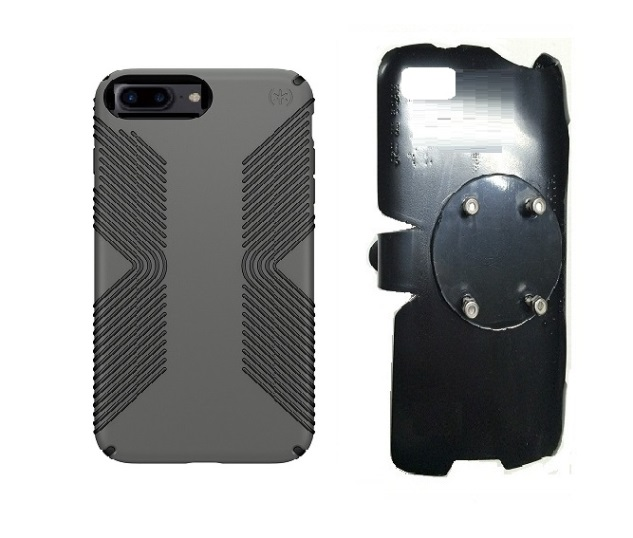 SlipGrip RAM-HOL Holder For Apple iPhone 8 Plus Using Speck Presidio Grip Case