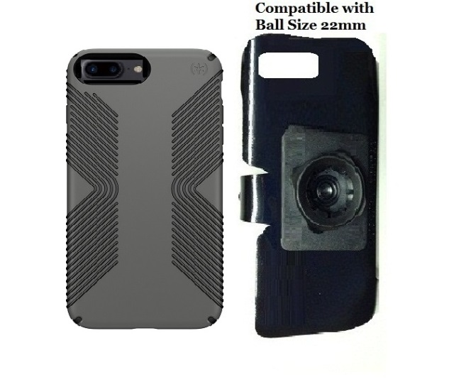 SlipGrip 22mm Ball Holder For Apple iPhone 8 Plus Using Speck Presidio Grip Case