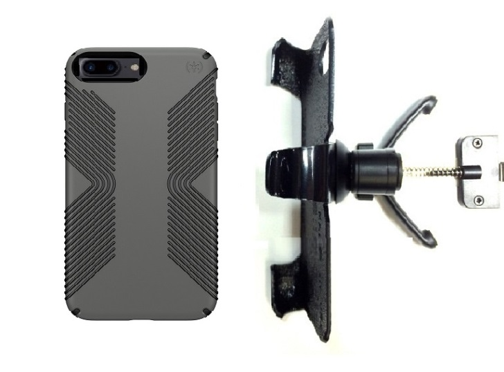 SlipGrip Vent Holder For Apple iPhone 8 Plus Using Speck Presidio Grip Case
