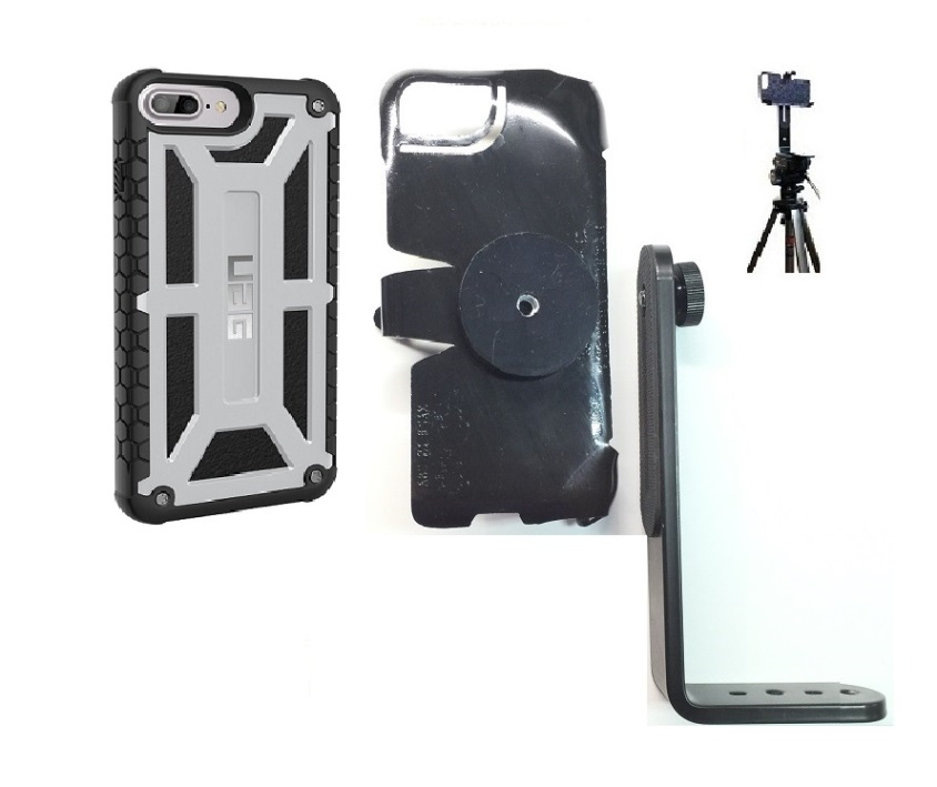 SlipGrip Tripod Mount For Apple iPhone 8 Plus Using UAG Monarch Rugged Case