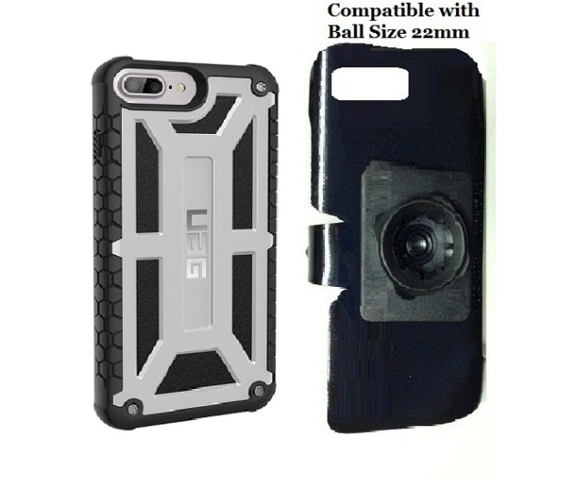 SlipGrip 22mm Ball Holder For Apple iPhone 8 Plus Using UAG Monarch Rugged Case