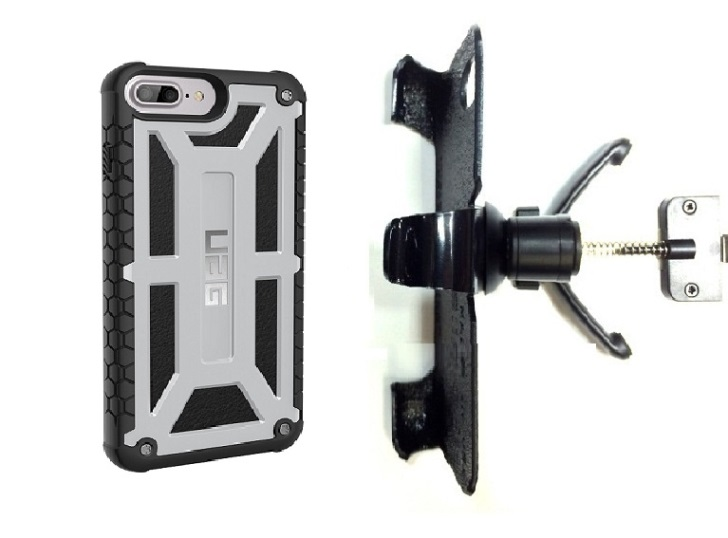 SlipGrip Vent Holder For Apple iPhone 8 Plus Using UAG Monarch Rugged Case