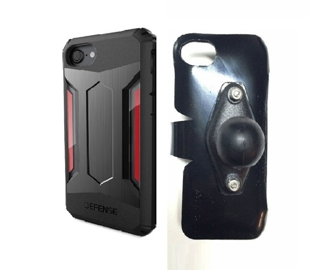 SlipGrip RAM Holder For Apple iPhone 8 Using X-Doria Defense Gear Case
