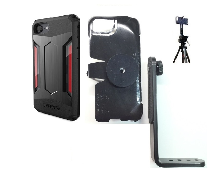SlipGrip Tripod Mount For Apple iPhone 8 Using X-Doria Defense Gear Case