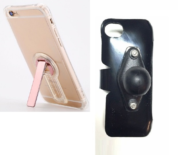 SlipGrip RAM Holder For Apple iPhone 8 Using Crystal Clear S TPU Gel KS Case