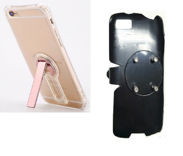 SlipGrip RAM-HOL Holder For Apple iPhone 8 Using Crystal Clear S TPU Gel KS Case