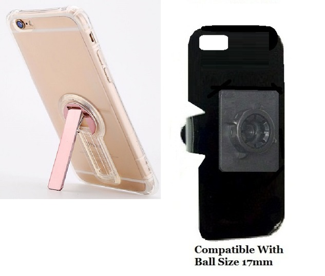 SlipGrip 17MM Holder For Apple iPhone 8 Using Crystal Clear S TPU Gel KS Case