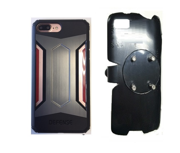 SlipGrip RAM-HOL Holder For Apple iPhone 8 Plus Using X-Doria Defense Gear Case