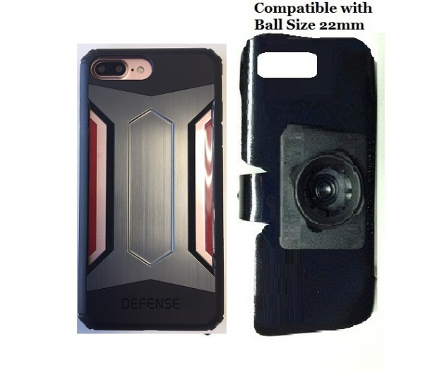 SlipGrip 22mm Ball Holder For Apple iPhone 8 Plus Using X-Doria Defense Gear Case