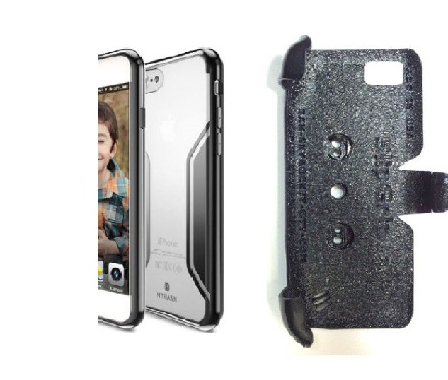 SlipGrip PRO Mounts Holder For Apple iPhone 8 Plus Using Luxury Thin Crystal SC TPU Case