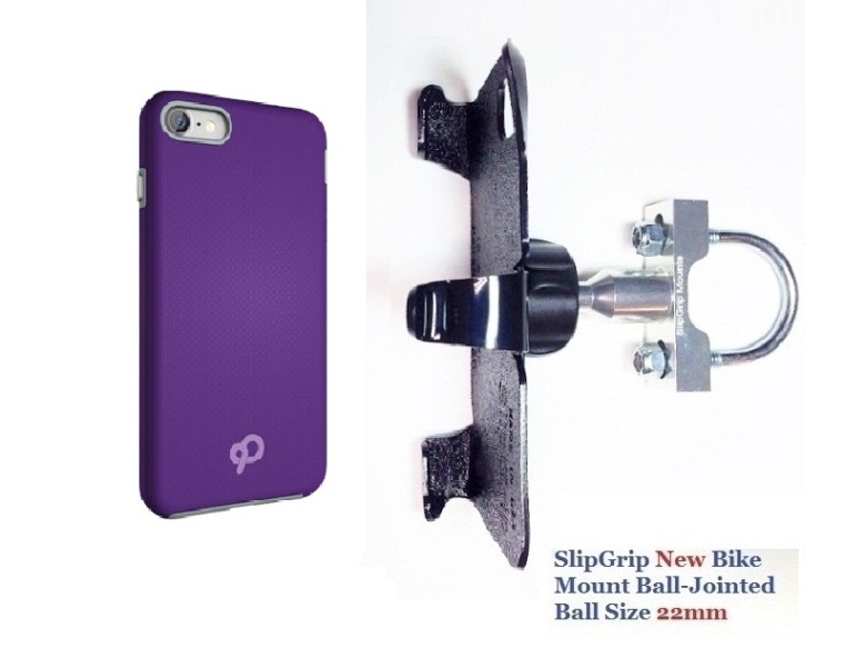 SlipGrip U-Bolt Bike Holder For Apple iPhone 8 Plus Using Nimbus9 Latitude Case