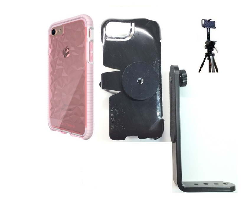 SlipGrip Tripod Mount For Apple iPhone 8 Using Tech21 Evo Gem Case
