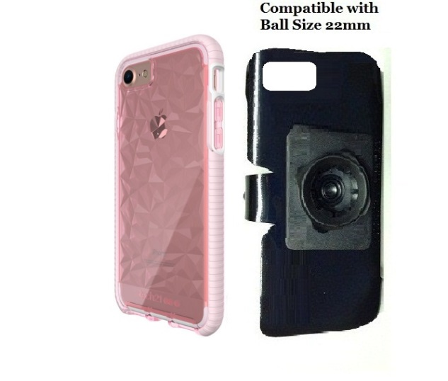 SlipGrip 22mm Ball Holder For Apple iPhone 8 Using Tech21 Evo Gem Case