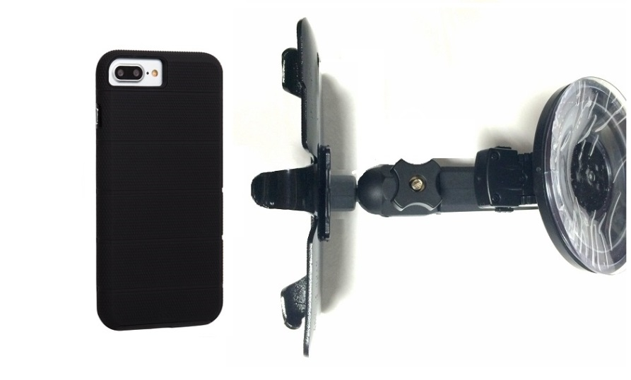 SlipGrip Car Holder For Apple iPhone 8 Plus Using Case-Mate Tough Mag Case HV