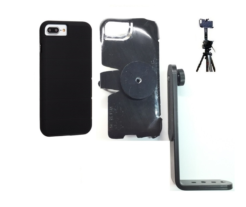 SlipGrip Tripod Mount For Apple iPhone 8 Plus Using Case-Mate Tough Mag Case