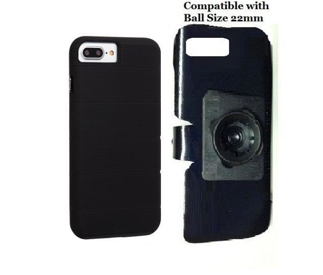 SlipGrip 22mm Ball Holder For Apple iPhone 8 Plus Using Case-Mate Tough Mag Case