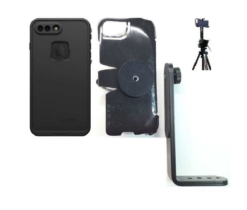 SlipGrip Tripod Mount For Apple iPhone 8 Plus Using Lifeproof FRE Case