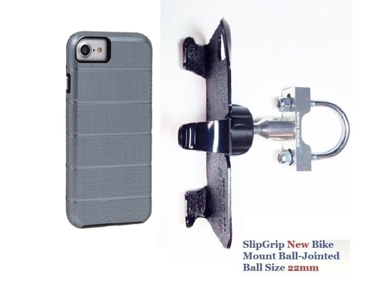 SlipGrip U-Bolt Bike Holder For Apple iPhone 8 Using Case-Mate Tough Titanium Case