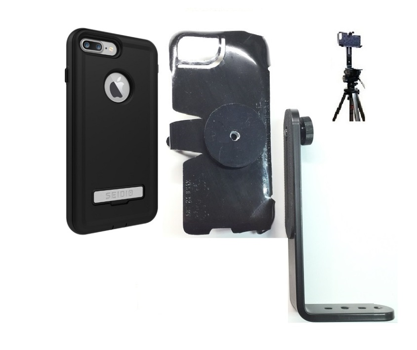 SlipGrip Tripod Mount For Apple iPhone 8 Plus Using Seidio Convert Case