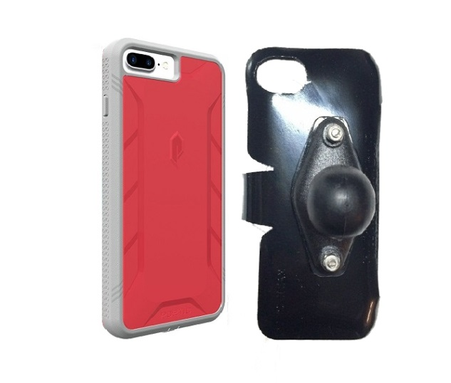 SlipGrip RAM Holder For Apple iPhone 8 Plus Using Poetic Rugged ShockProof Case