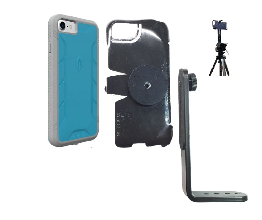 SlipGrip Tripod Mount For Apple iPhone 8 Using Poetic Rugged ShockProof Case