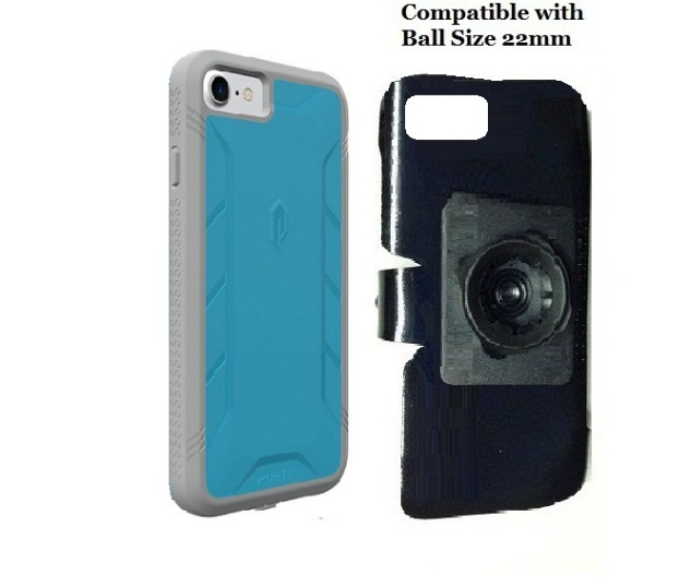 SlipGrip 22mm Ball Holder For Apple iPhone 8 Using Poetic Rugged ShockProof Case