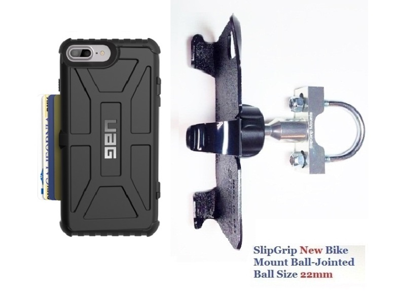 SlipGrip U-Bolt Bike Holder For Apple iPhone 8 Plus Using UAG Trooper Case