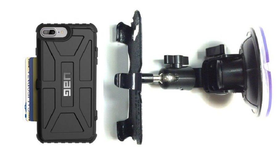 SlipGrip Car Holder For Apple iPhone 8 Plus Using UAG Trooper Case DT