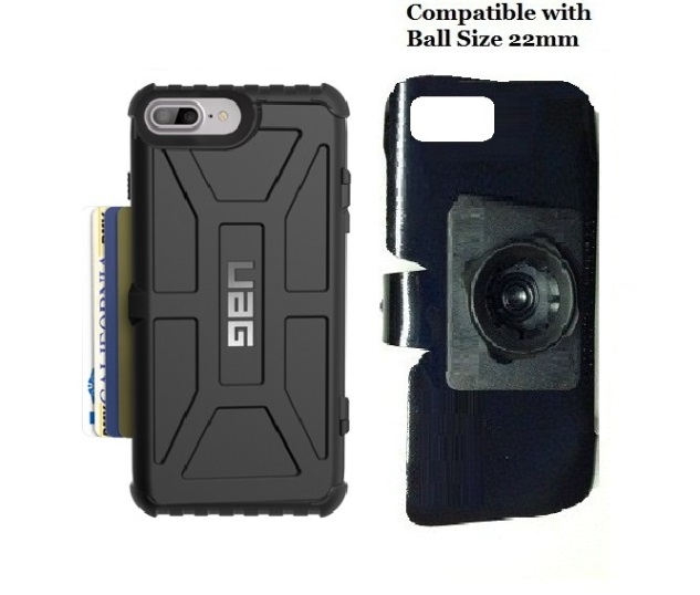 SlipGrip 22mm Ball Holder For Apple iPhone 8 Plus Using UAG Trooper Case