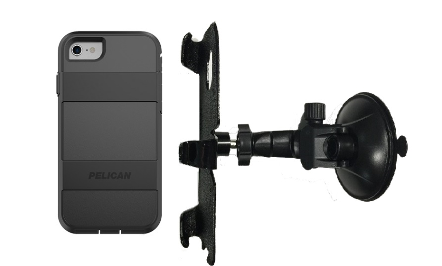 SlipGrip Car Holder For Apple iPhone 8 Using Pelican Voyager Case LP