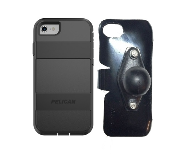 SlipGrip RAM Holder For Apple iPhone 8 Using Pelican Voyager Case
