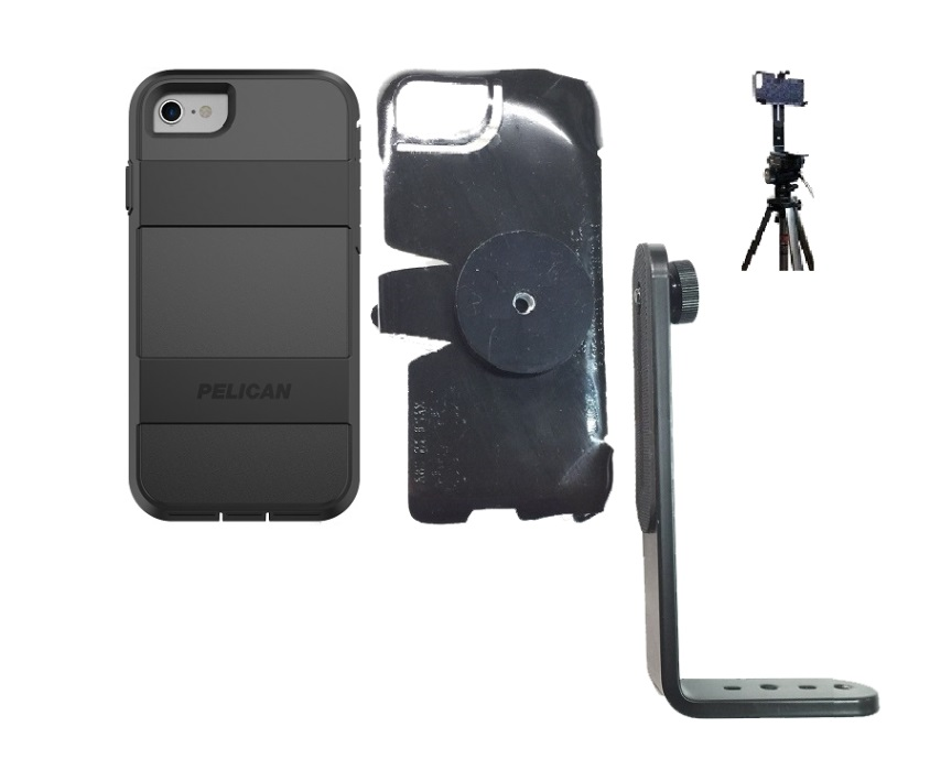 SlipGrip Tripod Mount For Apple iPhone 8 Using Pelican Voyager Case
