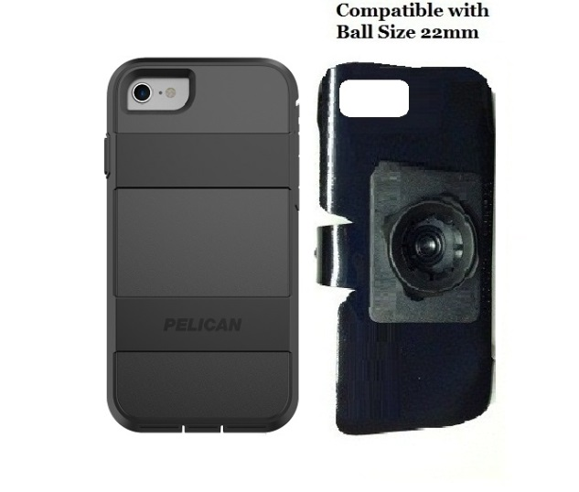 SlipGrip 22mm Ball Holder For Apple iPhone 8 Using Pelican Voyager Case