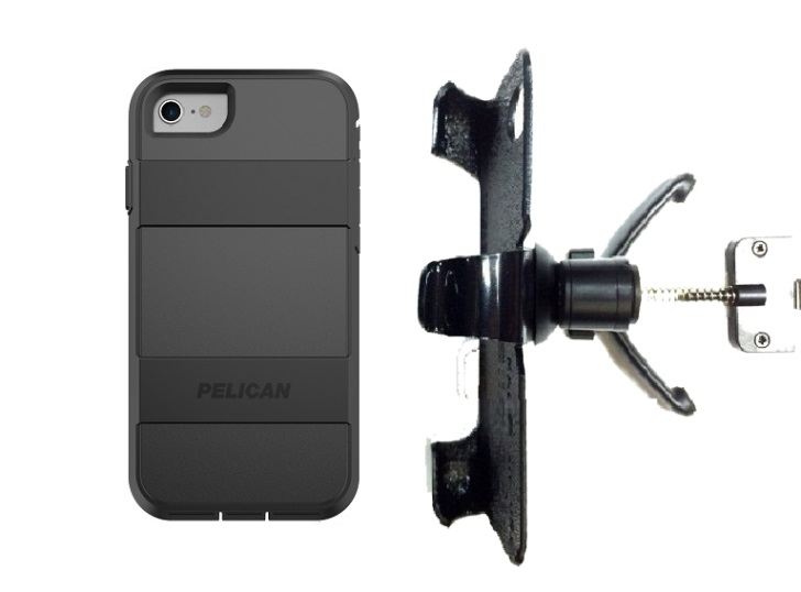 SlipGrip Vent Holder For Apple iPhone 8 Using Pelican Voyager Case