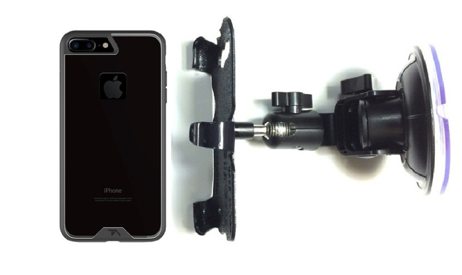 SlipGrip Car Holder For Apple iPhone 8 Plus Using Tech Armor FlexProtect Case DT