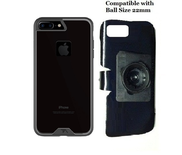 SlipGrip 22mm Ball Holder For Apple iPhone 8 Plus Using Tech Armor FlexProtect Case