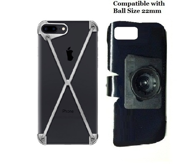 SlipGrip 22mm Ball Holder For Apple iPhone 8 Plus Using MOD-3 Radius Case