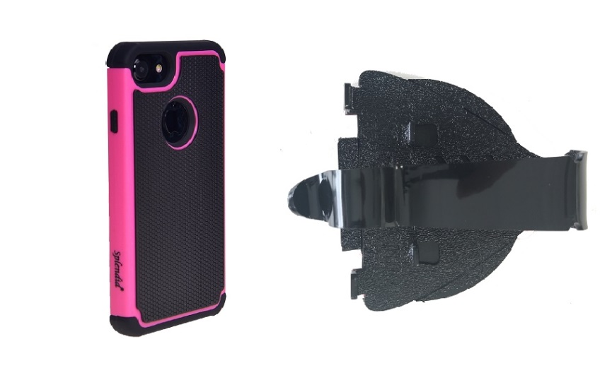 SlipGrip Car Dashboard Holder For Apple iPhone 8 Using Pelotek Tough Armor Tri-Layer Case