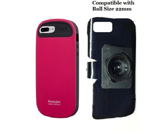 SlipGrip 22mm Ball Holder For Apple iPhone 8 Plus Using iFace Case Impact Case