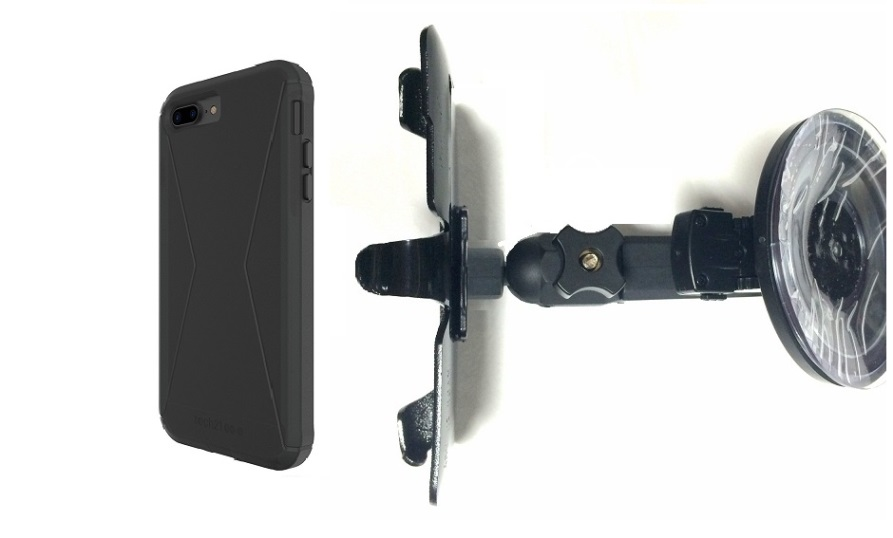 SlipGrip Car Holder For Apple iPhone 8 Plus Using Tech21 Evo Tactical Extreme Case HV