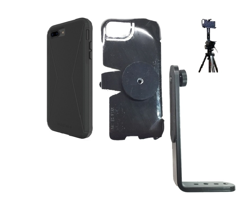 SlipGrip Tripod Mount For Apple iPhone 8 Plus Using Tech21 Evo Tactical Extreme Case