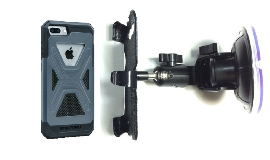 SlipGrip Car DT Holder For Apple iPhone 8 Plus Using Rokform Fuzion Case