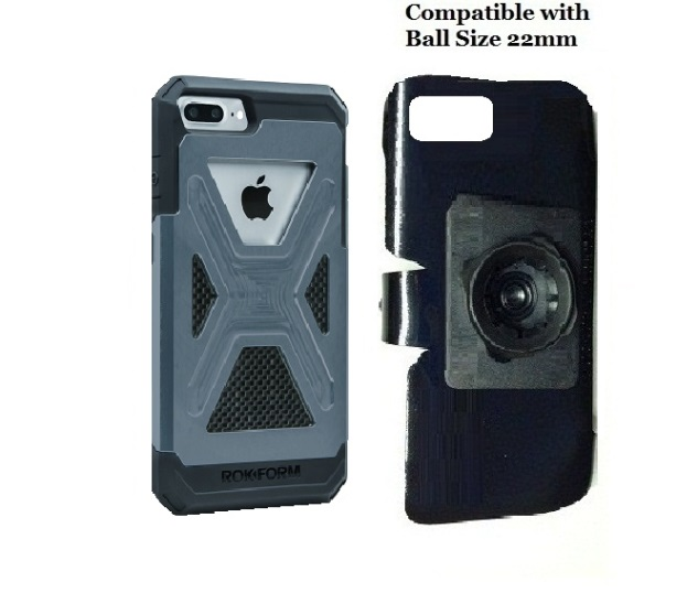 SlipGrip 22mm Ball Holder For Apple iPhone 8 Plus Using Rokform Fuzion Case