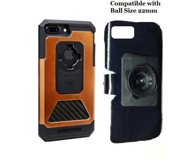 SlipGrip 22mm Ball Holder For Apple iPhone 8 Plus Using Rokform Fuzion Pro Case