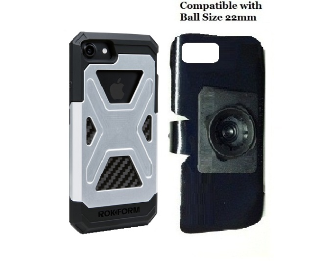 SlipGrip 22mm Ball Holder For Apple iPhone 8 Using Rokform Fuzion Case